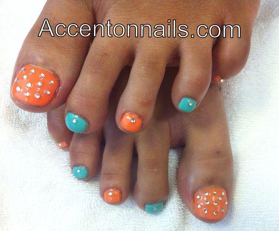 Multi colored Shellac toes!!