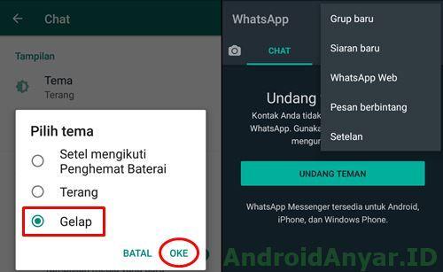 Cara Aktifkan Whatsapp Dark Mode Android Resmi 100 Work Android Gelap Publik