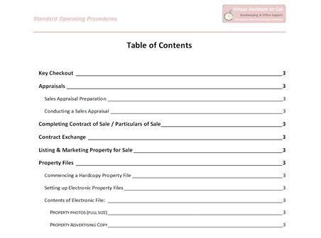 Sample Operations Manual Template Vosvetenet – Standard Operating Procedures Template Free Download