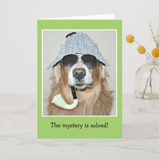 Happy Birthday Quotes Funny Golden Retriever Detective Dog