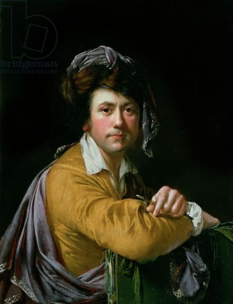 Self Portrait at the age of about Forty, c.1772-3, Wright of Derby, Joseph (1734-97) / Private Collection / Bridgeman Images: