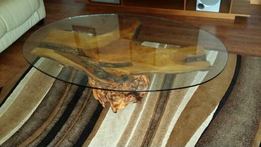 Project finished  . Huon pine & glass coffee table