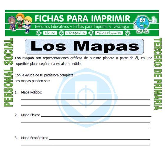 La Ficha De Elementos De Un Mapa Para Estudiantes De Tercero De Primaria O Niños De 8 O 9 Años Que Concierne Al área De Perso Tercero De Primaria Mapas Fichas