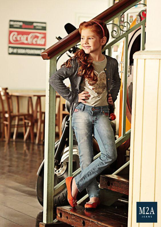 M2A Jeans | Fall Winter 2014 | Kids Collection | Outono Inverno 2014 | Coleção Infantil | calça infantil feminina; look infantil; vintage; denim kids.