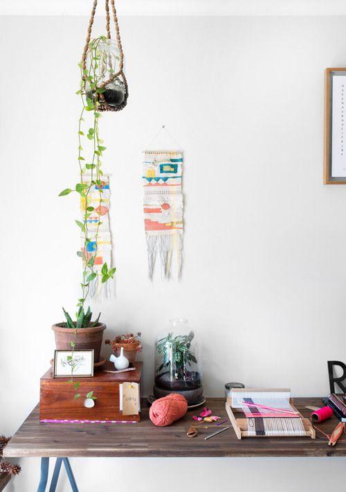: Workspace Photo, Hangingplants, Wall Hangings, Studio Spaces, Creative Workspaces, Hanging Plants, Work Spaces, Hangings Decor8, Woven Wall Hanging
