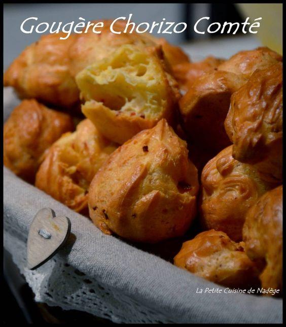 Gougeres Chorizo et Comté, Piment d'Espelette (avec ou sans cook'in, avec ou sans gluten)