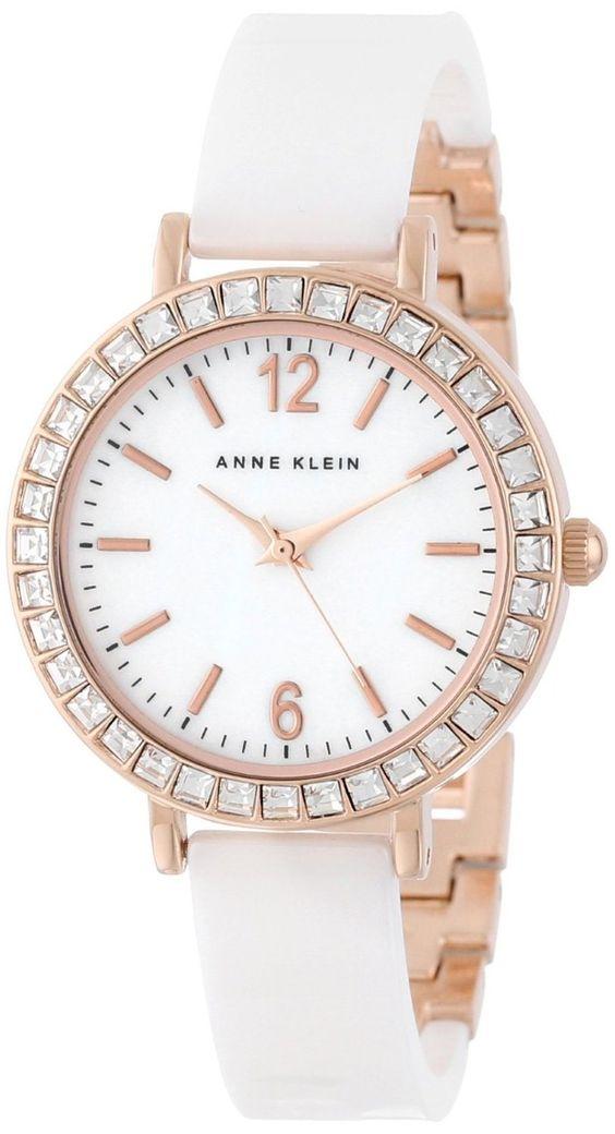 Women 39 s watches crystal watches women anne klein women 39 s ak 1442wtrg swarovski crystal for Anne klein swarovski crystals