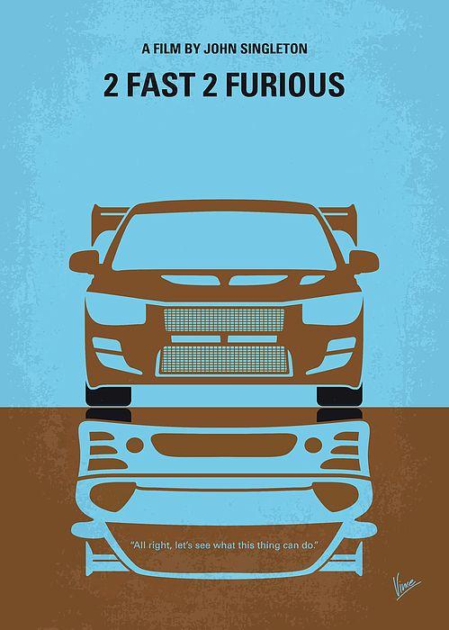 No207 2 My 2 Fast 2 Furious Minimal Movie Poster Velozes E