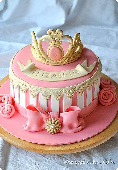 Tiara cake ROYAL princess Pinterest Tiara cake Cake and