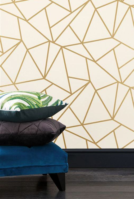 The Next Boxing Day Sale Is Here Best Homeware Bargains Geometric Wallpaper Wallpaper Bedroom Wallpaper Decor Gold and white geometric wallpaper