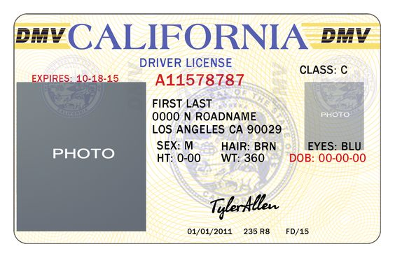 California Drivers License Template California Pinterest - dmv release form