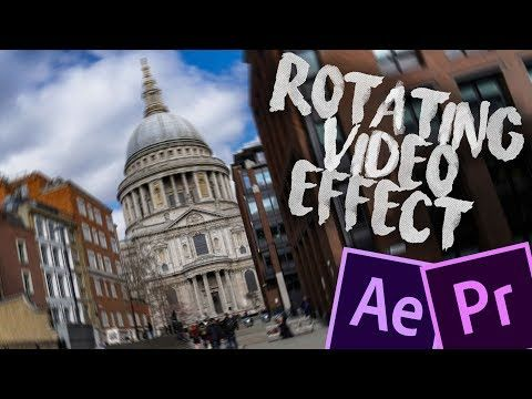 Rotating Video Effect Premiere Pro Tutorial No Plug Ins Youtube Premiere Pro Tutorials Adobe After Effects Tutorials Video Effects