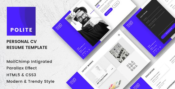Juleha - One Page Resume Template  Juleha is simple and clean - personal resume website template