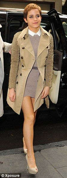 Burberry studded trench coat.
