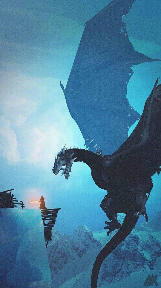 ᴛʜᴇ ɴɪɢʜᴛ ᴋɪɴɢ ᴠɪsᴇʀɪᴏɴ Dragon With Tattered Wings Fighting Knight With Flaming Sword Game Of Thrones Dragons Game Of Thrones Poster Game Of Thrones Artwork