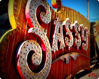 Sassy Sally's sign in Neon Boneyard in Las Vegas
