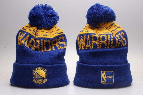 huge selection of 28303 3be00 Golden State Warriors Winter Outdoor Sports Warm Knit Beanie Hat Pom Pom