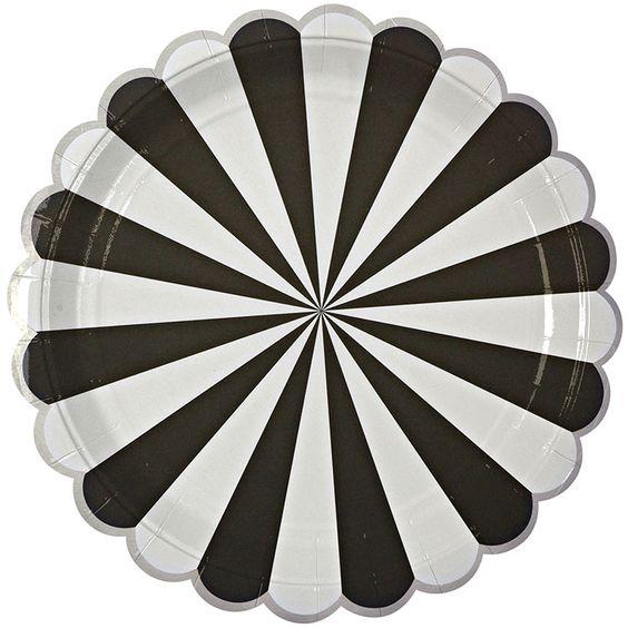 8 große Pappteller Toot Sweet