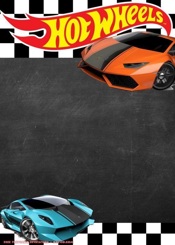 Invitaciones De Hot Wheels Gratis Fiesta De Hot Wheels