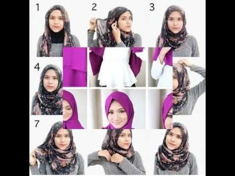 Tutorial Hijab Segi Empat Simple Dan Modis Untuk Remaja Remaja