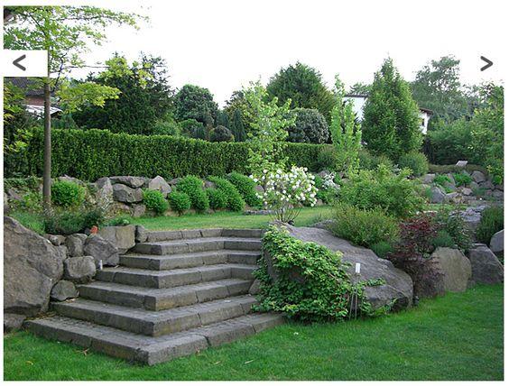 Ebenen im Garten Hanggarten garden Pinterest