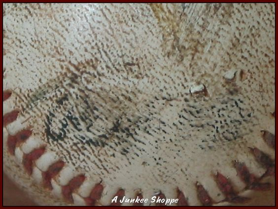 Antique Rawlings Baseball  http://ajunkeeshoppe.blogspot.com/