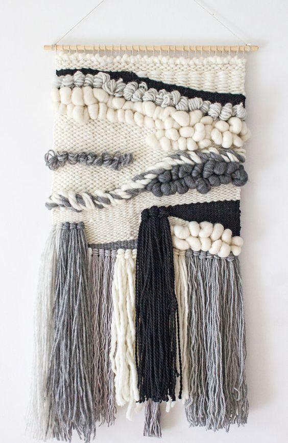 Tejido colgante grande  Tejido tejido de tapiz de pared