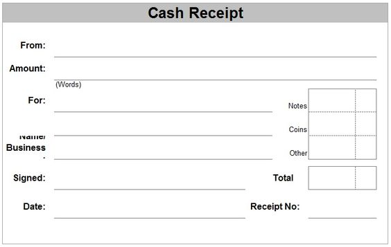 Medical receipt template u2013 Word u2013 Free Receipt Template Google - cash received template