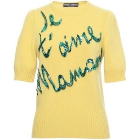 Dolce & Gabbana Je T'Aime Maman Sweater as seen on Olivia Wilde