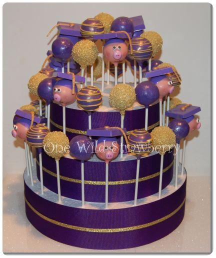 3 Tier Cake Form with Graduation Cake Pops