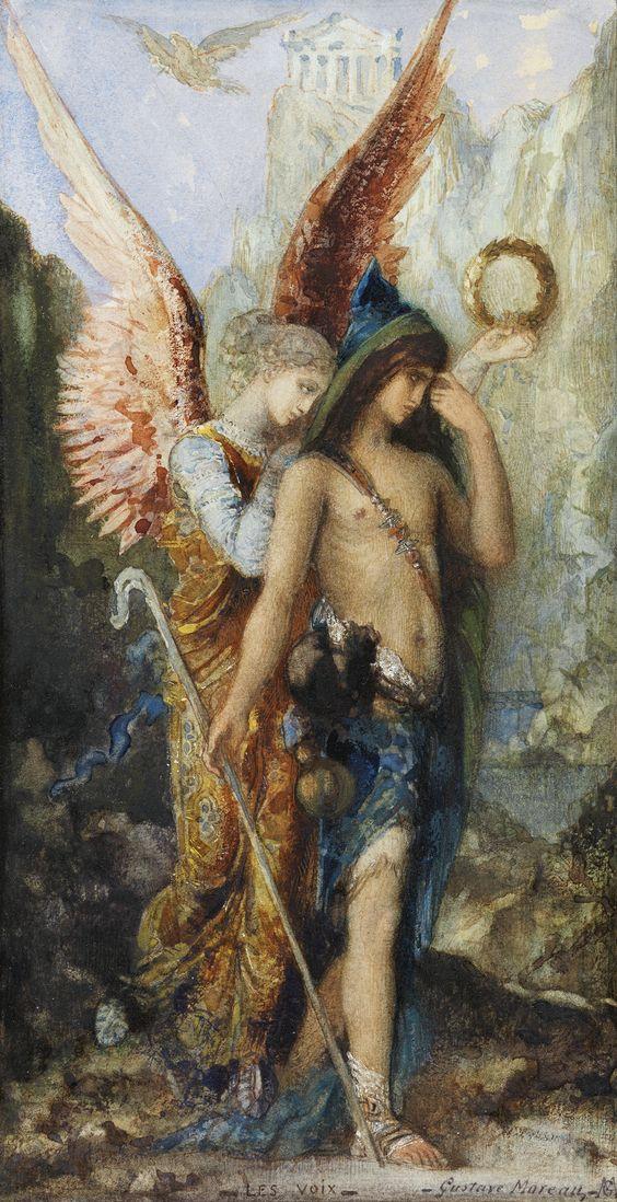 Hesíodo y la musa - Gustave Moreau