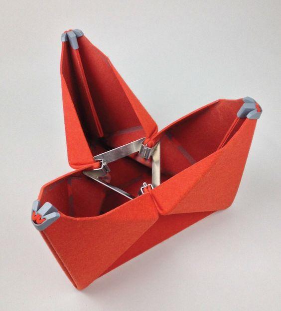 The Morgan Felt Folding Stool by Brett Mellor at Coroflot.com
