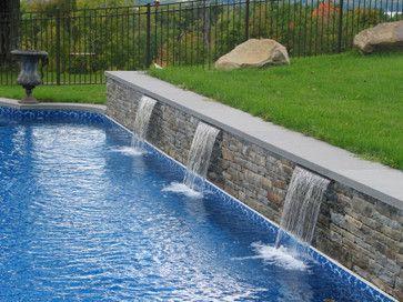 Pinterest the world s catalog of ideas for Hillside pool ideas