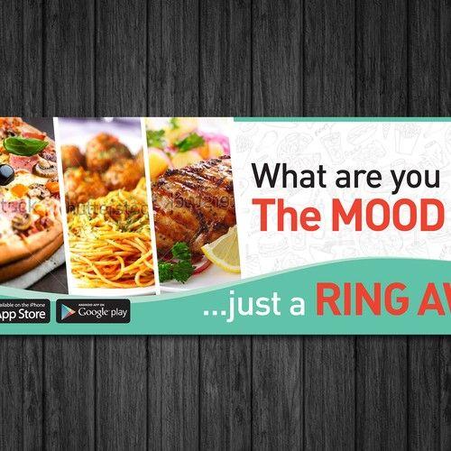 Food Deliver App Bus Ad Signage Contest Design Signage Winning Oscar Food Foods Delivered Food Tech