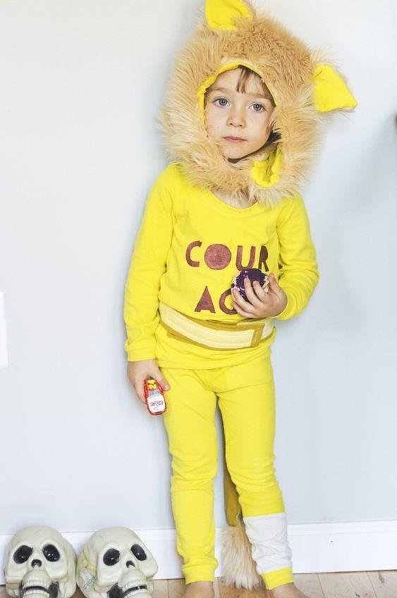 Tiermasken mit Kindern basteln gelb löwe