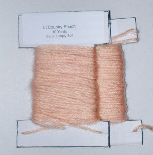 Flesh (lt peach) color yarn, great for plastic canvas! 20yds