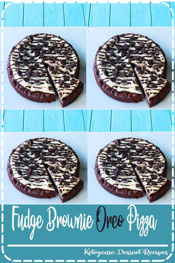 Fudge Brownie Oreo Pizza Cheap Dessert Recipes Fudge Brownies Banana Split Dessert Recipes
