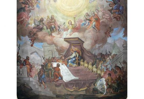 Het Prachtige Vliegende Schip Van Koning Salomo