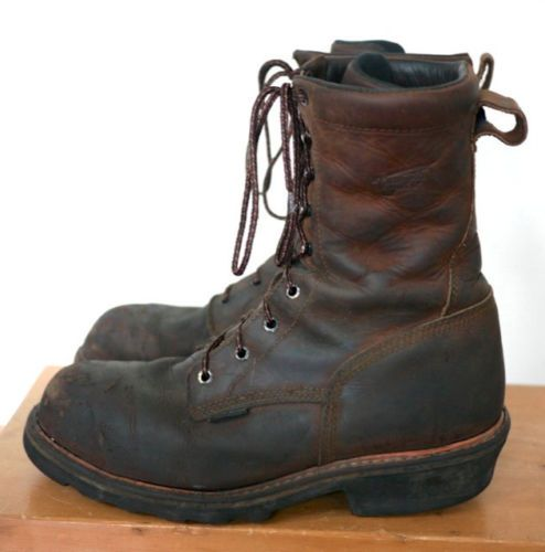 Red Wing 4420 Steel Toe Leather Logger Lineman Waterproof Work ...