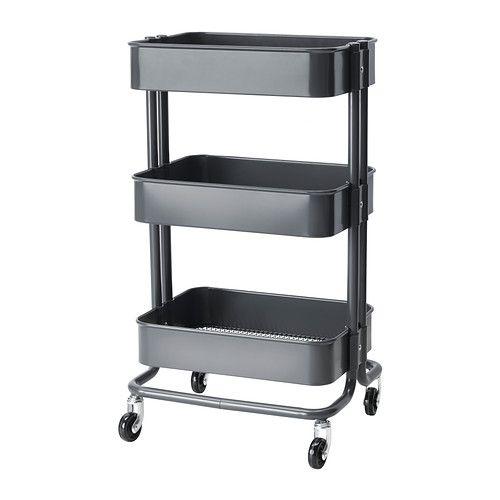 | Råskog Rolling Cart in Grey | Ikea - using in nursery to hold diaper supplies