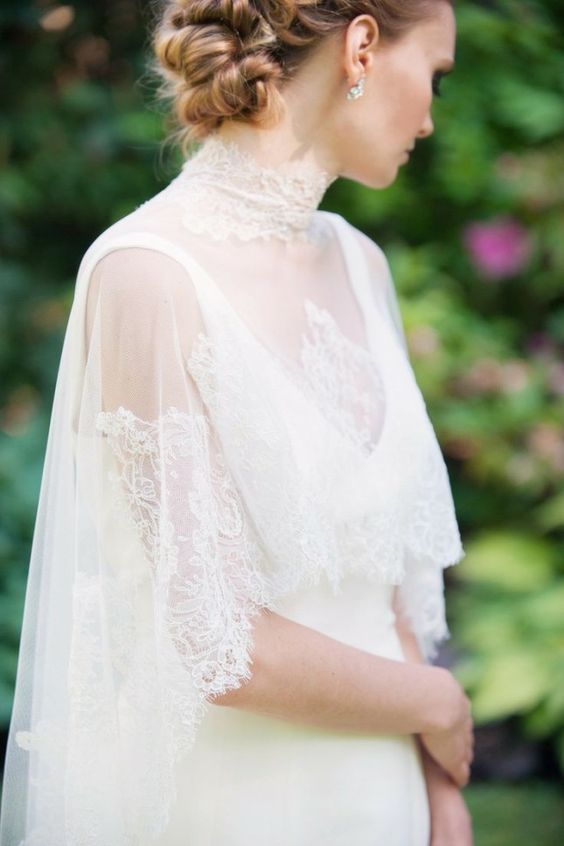 Bridal cover ups lace | fabmood.com #wedding: