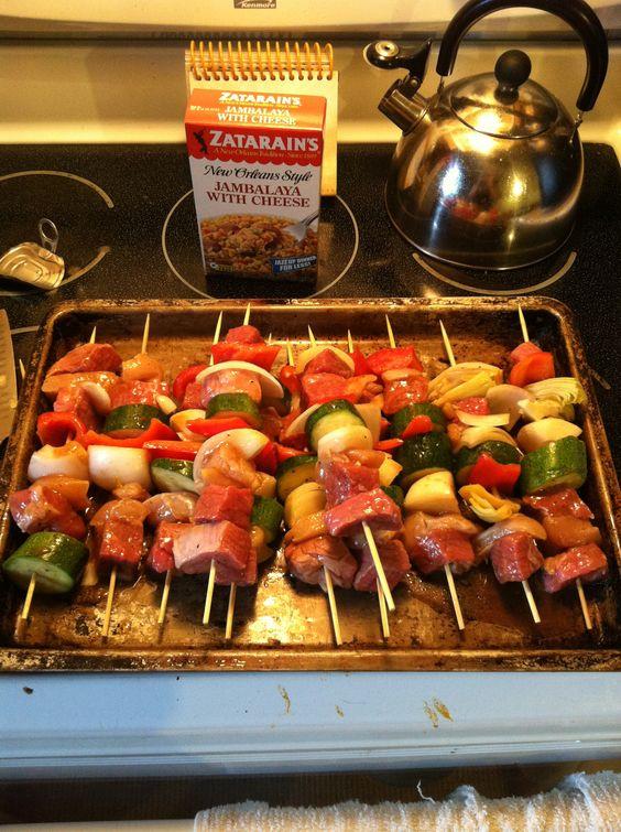 Kabobs for dinner :) #glutenfreeliving