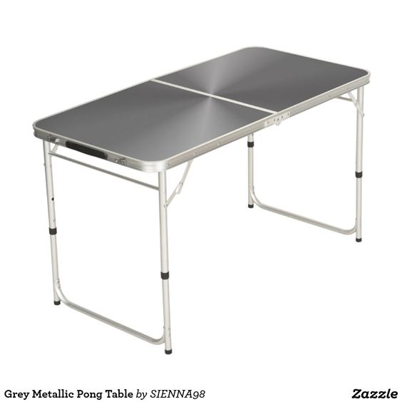 Grey Metallic Pong Table