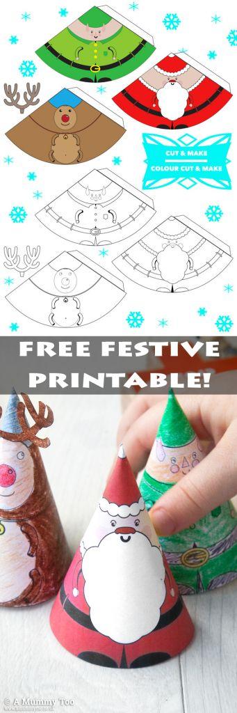 Christmas printable characters: