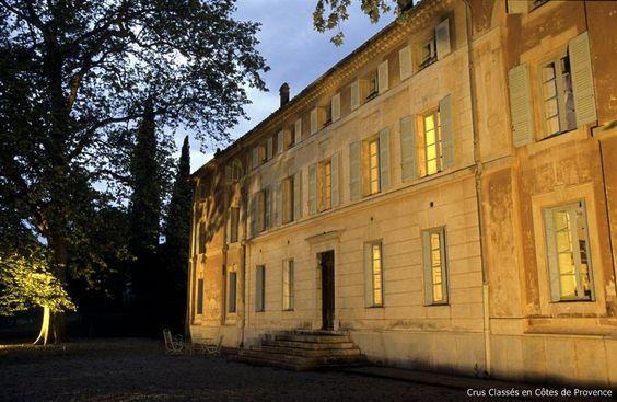 Route du Club des Crus Classés de Provence - Château Saint-Martin at dusk. Var, France.