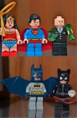 LEGO Super Heroes SUPERLOT of 5 Minifigs Batman Superman Wonder Woman Catwoman