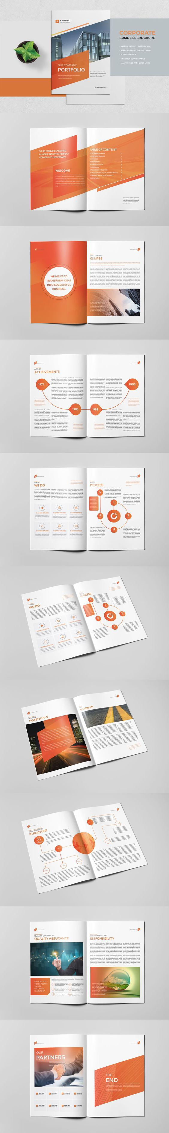indesign free brochure templates - corporate portfolio brochure 18 pages template indesign