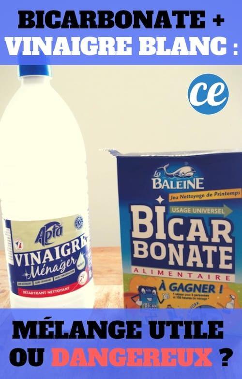 Bicarbonate Vinaigre Blanc Reaction Dangereuse Ou Melange