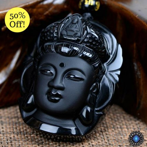Natural Obsidian Buddha Pendants Necklace - Project Yourself