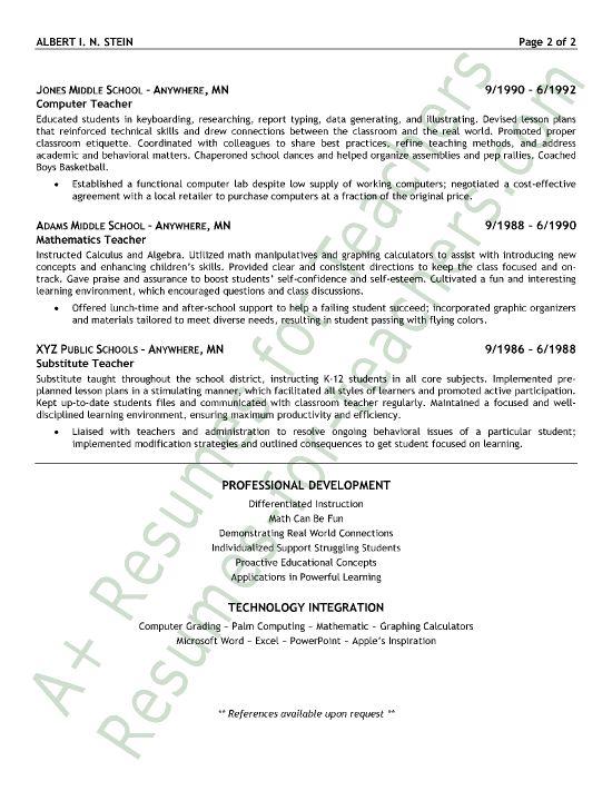 Art Teacher Resume Examples -    wwwresumecareerinfo art - model resume example